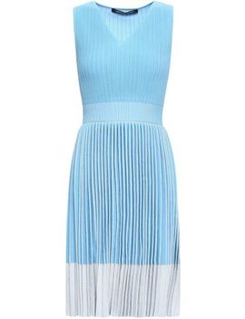 Pleated Metallic Knitted Dress by Antonino Valenti