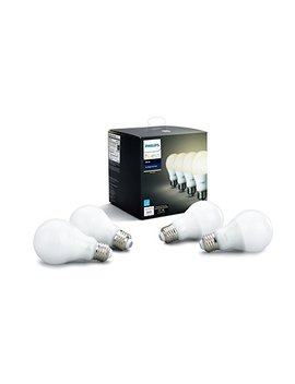 Philips Led 472027 Hue White A19 Led Smart Bulbs (4 Pack), 60 W Equivalent (Compatible With Amazon Alexa , Apple Home Kit, And Google Assistant), Soft Count by Philips Led
