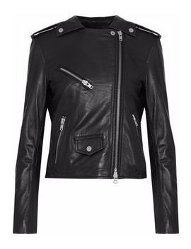 Healy Chain Leather Biker Jacket by Muubaa