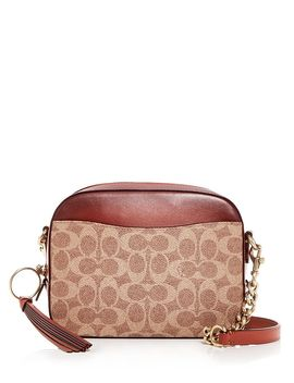 Logo Print & Leather Camera Bag by Coach