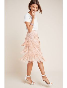 Velma Fringed Midi Skirt by Maeve