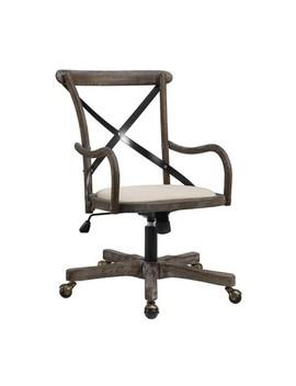 Carson Café Office Chair Gray   Linon by Linon