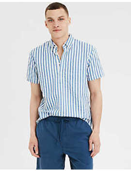 Ae Short Sleeve Oxford Pullover Shirt by American Eagle Outfitters