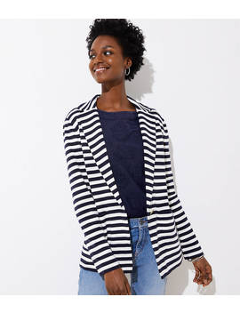 Striped Sweater Blazer by Loft