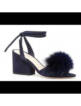Loeffler Randall  Nicky Fur Sandal Size 7 by Loeffler Randall