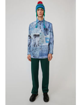 Oversized Shirt  Multi Colour   Blue by Acne Studios