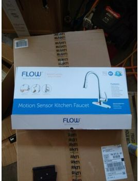 Flow Motion Activated Pull Down Kitchen Faucet Brushed Nickel by Flow