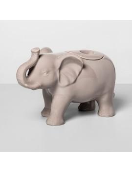 57.4oz Stoneware Elephant Cookie Jar Gray   Opalhouse by Opalhouse