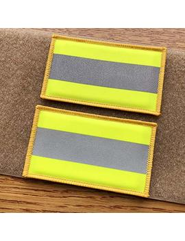 2 Pack Reflective Morale Fastener Safety Patch Hook Loop Firefighter Rescue Police Emt Ems Hi Vis Patch (Fluor Yellow) by Suviya