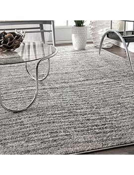 "Nu Loom Contemporary Sherill Wind Area Rug, 6' 7"" X 9', Grey by Nu Loom"