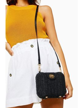 Friday Black Wicker Cross Body Bag by Topshop