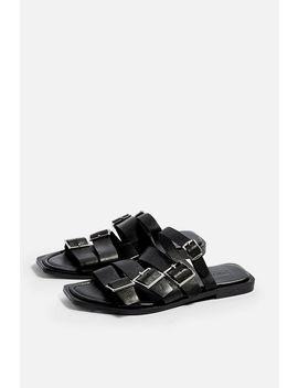 Felix Black Buckle Sandals by Topshop