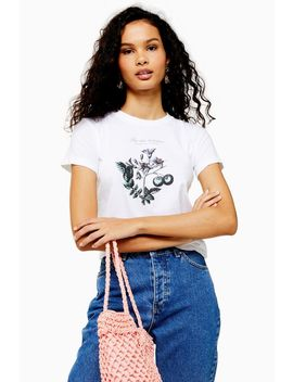 Botanical Shrunken T Shirt by Topshop