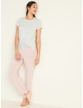 Relaxed Twist Front Jersey Lounge Tee For Women by Old Navy