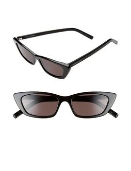 52mm Cat Eye Sunglasses by Saint Laurent