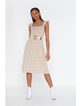 Frill Detail Maxi Dress In Cotton Gingham by Nasty Gal