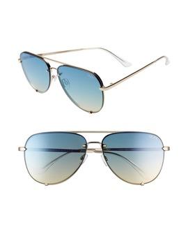 X Desi Perkins High Key 65mm Rimless Aviator Sunglasses by Quay Australia