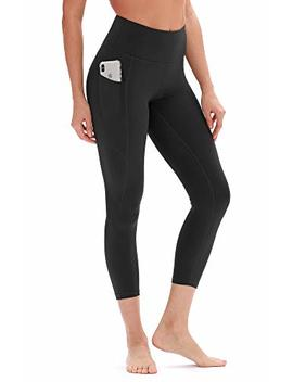 Icyzone Yoga Pants For Women   High Waisted Workout Leggings With Pockets, Power Flex Athletic Capris Exercise Tights by Icyzone