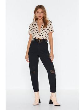 Get Your Shred In The Game Distressed Mom Jeans by Nasty Gal