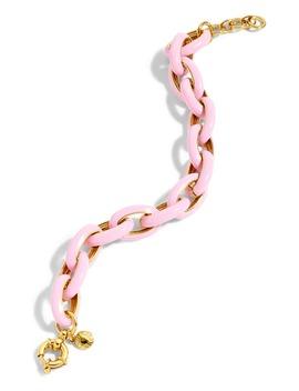 Enamel Oval Chain Link Bracelet by J.Crew