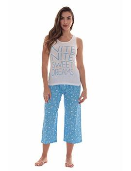 Just Love 100 Percents Cotton Capri Sets Women Sleepwear Womans Pajamas Pjs by Just Love