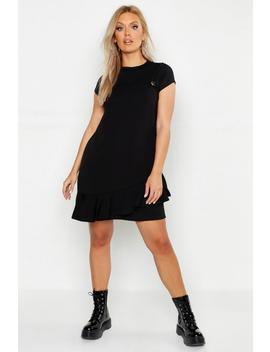 Plus Ruffle Hem Pinafore Dress by Boohoo