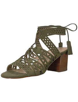 The Fix Women's Bonilla Block Heel Triangle Cutout Dress Sandal by The Fix