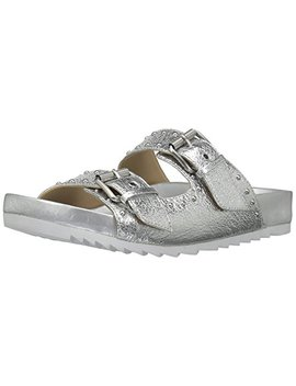 The Fix Women's Upson Double Buckle Studded Footbed Platform Slide Sandal by The Fix