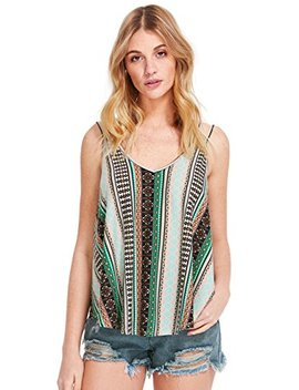 Floerns Women's Summer Boho Floral Printed Spaghetti Strap Tank Top by Floerns