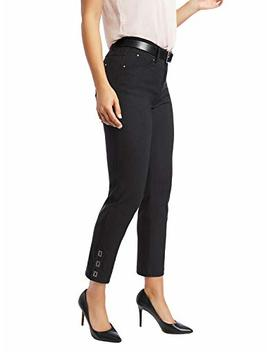 89th + Madison Women's Buckle Cuff Stretch Straight Leg Pants by 89th + Madison