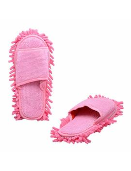 Paialco Double Removable Ultrafine Chenille Cleaning Dusting Mopping Shoes Fits Womens Size 6 To 10 by Paialco