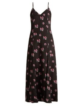 Ava Floral Print Silk Dress by Racil