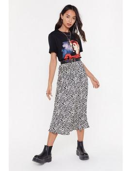 Think Long And Leopard Midi Skirt by Nasty Gal