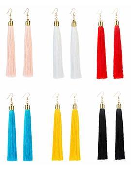 Revolia 3 Pairs Womens Long Tassel Dangle Earrings For Girls Fringe Drop Earrings Elegant by Revolia