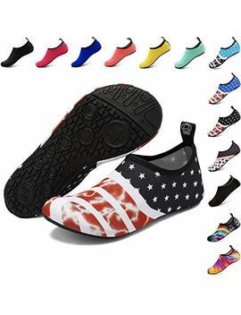 Anluke Water Shoes Barefoot Aqua Yoga Socks Quick Dry Beach Swim Surf Shoes For Women Men by Anluke