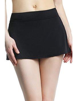 Phistic Women's Upf 50+ High Waist Tummy Control Skirted Swim Bottom Briefs (Reqular & Plus Size) by Phistic