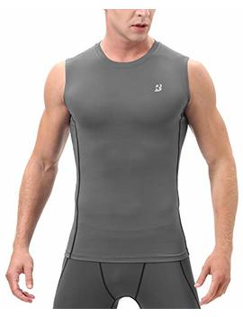 Roadbox Men's Athletic Compression Shirt Under Base Layer Sport Muscle Sleeveless Tank Top by Roadbox
