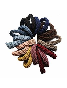 Hair Ties With Seamless High Elastic Thickening In Ponytail Holders (Multiple Colors With 20 Pcs Packing) by Blbm