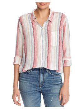 Charli Metallic Striped Shirt by Rails