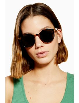 Luci Preppy Round Sunglasses by Topshop