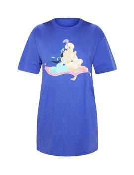 Purple Disney Aladdin Magic Carpet Oversized T Shirt by Prettylittlething