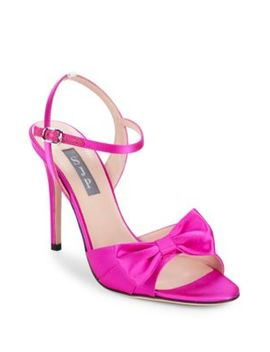Louise Satin Bow Stiletto Sandals by Sjp By Sarah Jessica Parker