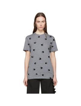 Grey Mini Swallow T Shirt by Mcq Alexander Mcqueen