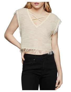Fringed Cropped Top by Bcbgeneration