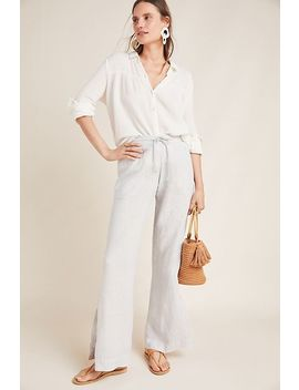 Cloth & Stone Linen Wide Leg Trousers by Cloth & Stone