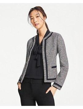 Petite Bordered Tweed Jacket by Ann Taylor