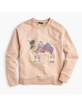 camel-crewneck-sweatshirt by jcrew