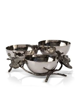 Black Orchid Triple Nut Dish by Michael Aram