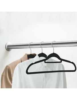 100 Pack Premium Non Slip Flocked Velvet Hangers Clothes Hangers Suit/Shirt/Pants by Unbranded