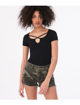 seriously-soft-strappy-bodycon-top by aeropostale